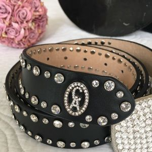 Christine Alexander Svarowsky rhinestone belt. XL
